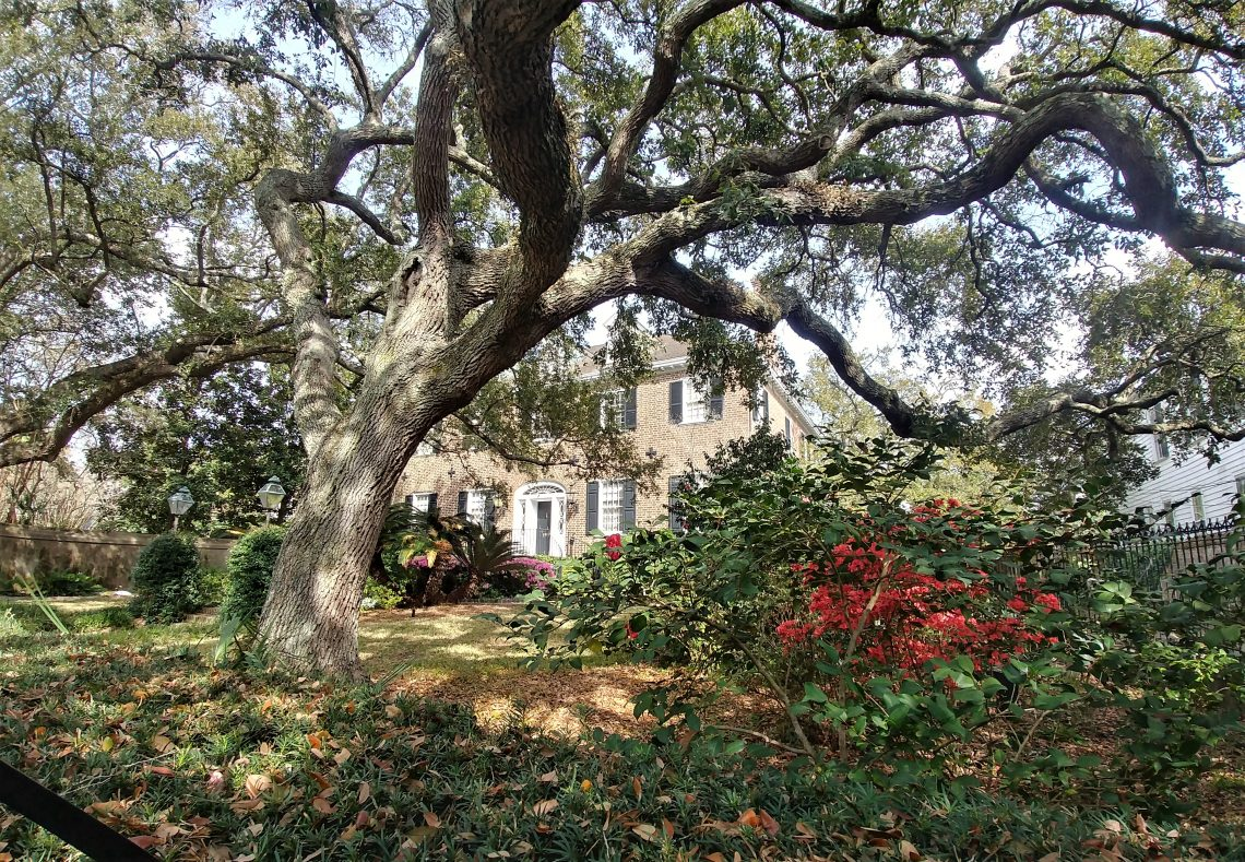 While not officially yet spring, it sure feels that way in Charleston. While this handsome house on Legare Street is not historic (built in 1941), it is next door neighbors to the Sword Gate House -- which surely is.