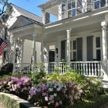 The pretty scene can be on Church Street -- the blooming azaleas help highlight the beautiful porch.