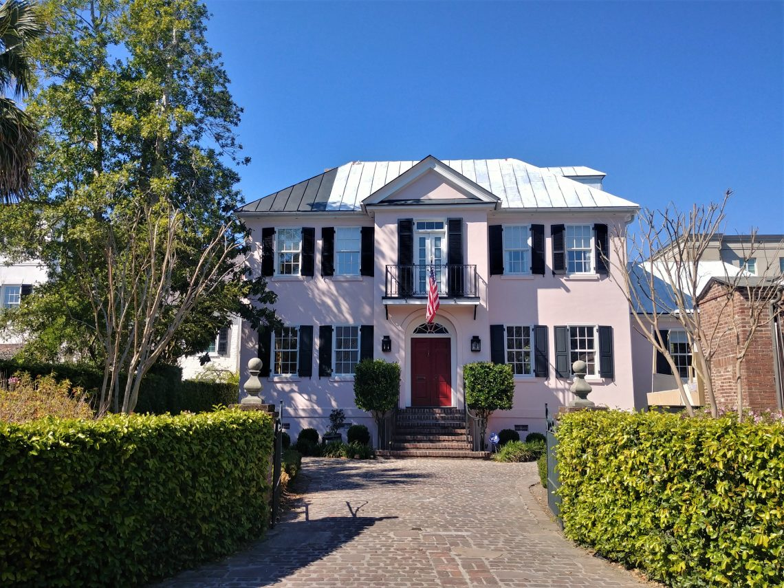 This pretty pink house can be found in Price's Alley... one of the cool cut-throughs of Charleston.