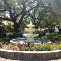 This beautiful fountain can be found in one of Charleston's very cool pocket parks — Allan Park on Ashley Avenue.