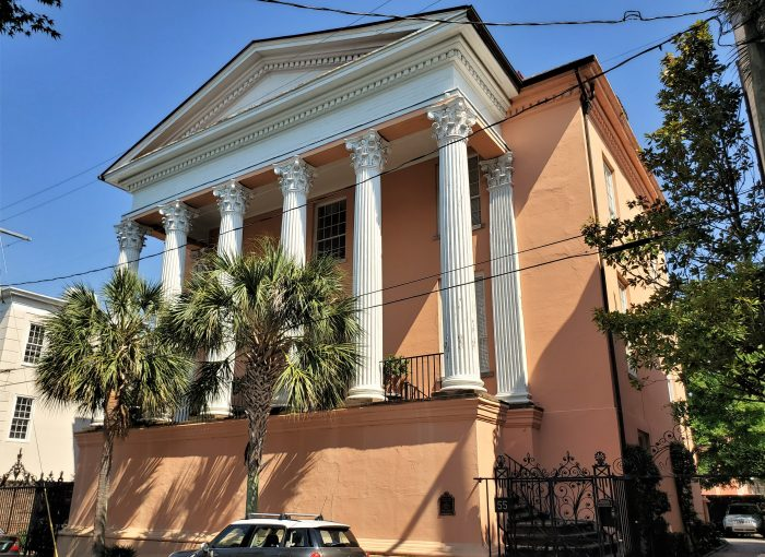 This beautiful building on Society Street was designed by the famed architect E.B. White. It was built in 1840-42 as the home for the High School of Charleston.