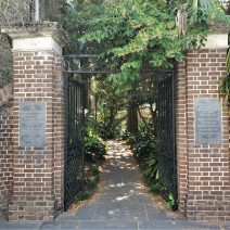 This beautiful entryway on King Street leads to one of the most beautiful walkways in downtown Charleston. It is part of the Gateway Walk -- a larger pedestrian path that cuts across a wide section of the historic peninsula. It's worth finding it and taking a stroll!