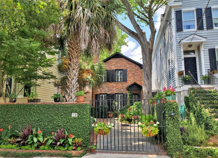 The pretty streetscape can be found on one of the smallest streets in Charleston -- Short Street. Yes, really.