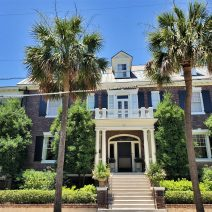 A beautiful Charleston house on a beautiful Charleston day. Located on Rutledge Boulevard (not Avenue),  a bit down from the Horse Lot, this house has an elegant presence.
