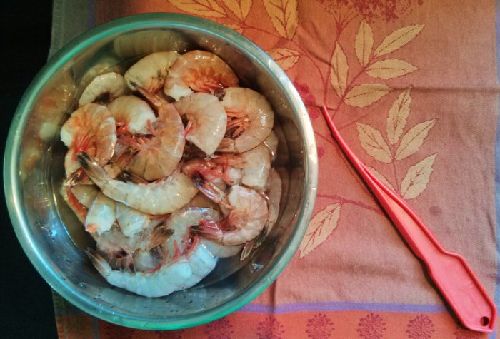 Lowcountry shrimp is the best there is! There is nothing like getting it fresh off the boat, using the nifty red tool to peel and de-vein them, and then boiling them up in a Frogmore stew or making a shrimp cocktail. Mmmmmmm...