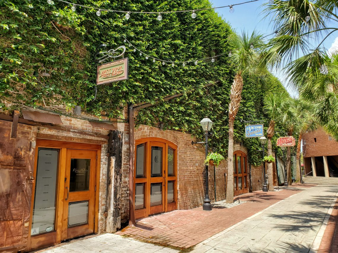 Slightly off the beaten path, Hutson Alley -- running between Hutson and John Streets -- is home to a row of restaurants.
