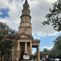 A classic view of St. Philip's and Church Street. Not only is the steeple beautiful, it one served as the last lighthouse in a range of lighthouses used to guide sailors into Charleston.