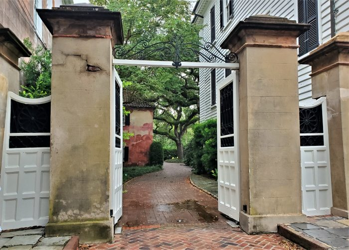 This gate on South Battery is rarely left open, leaving what's behind it as a mystery. Mystery solved.