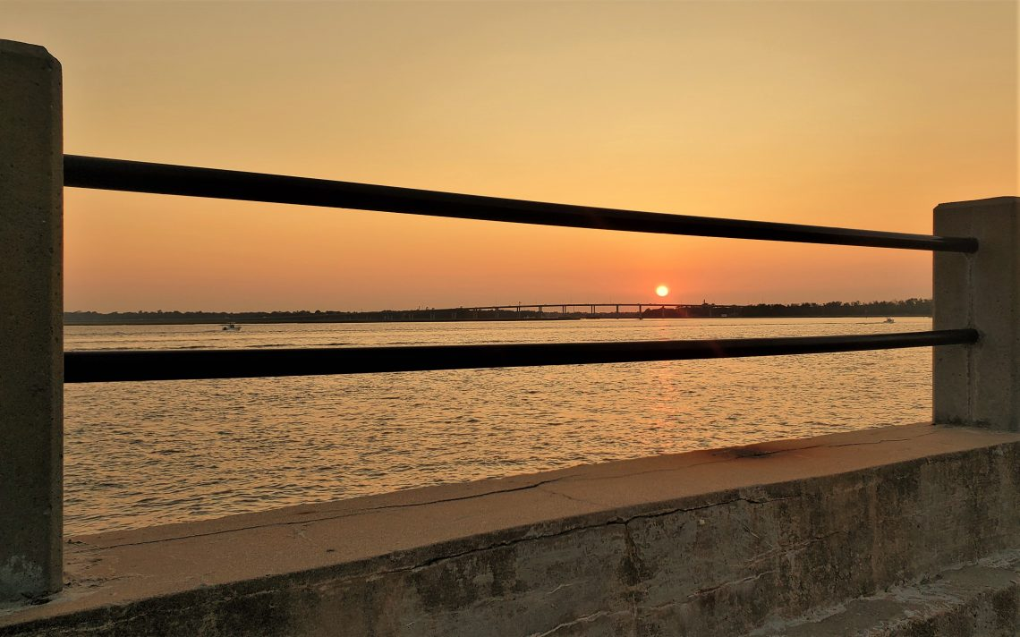 Another beautiful Charleston sunset, as seen along the Ashley River. If you continue downstream, the Ashley runs into the Cooper River. And according to Charleston lore they then join to form the mighty Atlantic Ocean :)