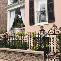 This beautiful house on Hassell Street, with its gorgeous gate/fence and piazza, was built in 1846. Since 1920, it has served as the rectory of St. Johannes St. Lutheran Church -- which is directly next door.