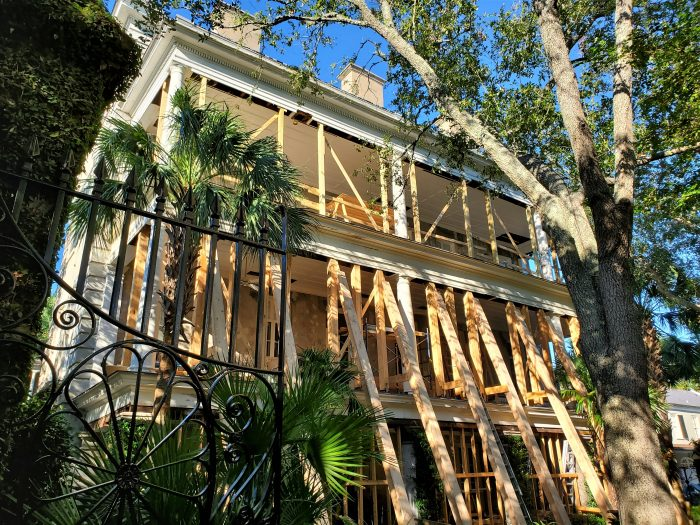 It takes a big effort to care for some of Charleston's amazing houses. This one was built in 1857 on Legare Street from land subdivided from the Miles Brewton House -- which is located on King Street.