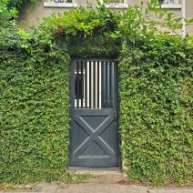 This cool hole-in-the-wall door can be found on Meeting Street, just a short ways down from the beautiful colonial St. Michael's Church.