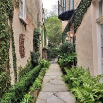 This little path leads from Queen Street to the front door of the house on the right, which was constructed in 1796. The original land grant for the property dates back to 1694 and it is believed that the original house burned down in the fire of 1796.