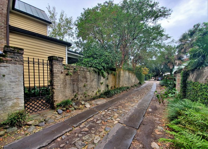 This beautiful alley, Longitude Lane, was created in 1788. It was developed to cut through some larger blocks of land, thereby opening them up for future development. Today, from East Bay a car can make it about halfway through, and then if you want to get to Church Street, you have to be on foot.
