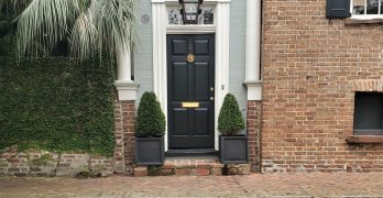 This very cool door can be found on Maiden Lane, one of the eight active cobblestone streets in Charleston.