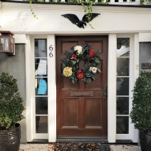 This wreath festooned door can be found on a house built in 1784 on Church Street.