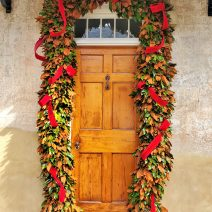 """This beautifully decorated door is next to the house on Church Streetin which DuBose Heyward wrote the novel """"Porgy"""" -- which became the basis for the famous """"Porgy and Bess."""""""