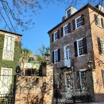 This layered view of Charleston is along Tradd Street, just before the corner of King Street. Across the street is a house that was built in 2003. Before that, one of the last businesses operating South of Broad was located there -- a gas station (the Fort Sumter Filling Station) that was built in the 1930's.
