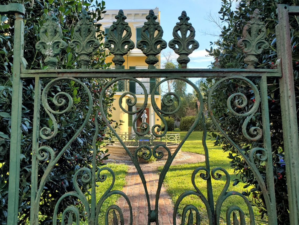 This beautiful gate guards a handsome c. 1850 house on Bull Street
