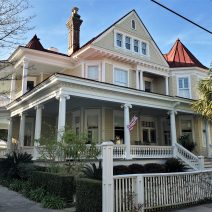 This Queen Anne style house on Legare Street was built in 1876-77, replacing an earlier one that burned in the fire of 1861.