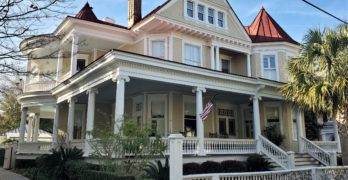 This Queen Anne style house on Legare Street was built in 1876-77.