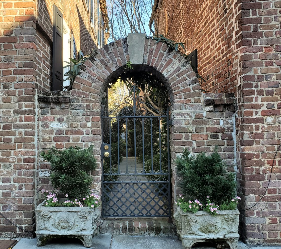 This pretty arch connects two colonial era (c.1742) houses on King Street in the Charlestowne (South of Broad) neighborhood.