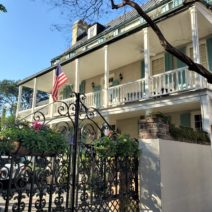 Built before 1739, the William Elliot House on King Street is one of Charleston's oldest single houses. Included in its interesting history is that in 1763 it served as a boarding school for young ladies. Now a private home, its beautiful gates always host some pretty flower boxes.