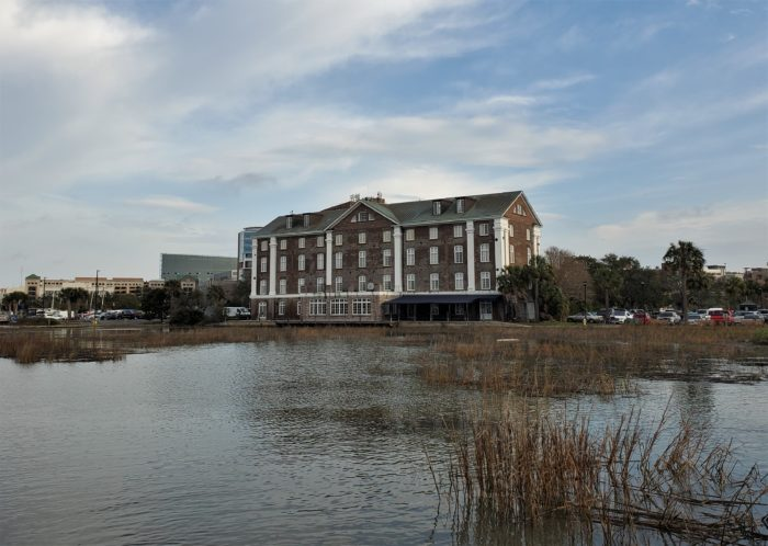 The West Point Rice Mill (aka the Historic Rice Mill), c. 1861, sits on the banks of the Ashley River (right next to the Marina Variety Store Restaurant, the best breakfast place in Charleston.) The rice (known as Carolina Gold) once made Charleston the richest city in North America.