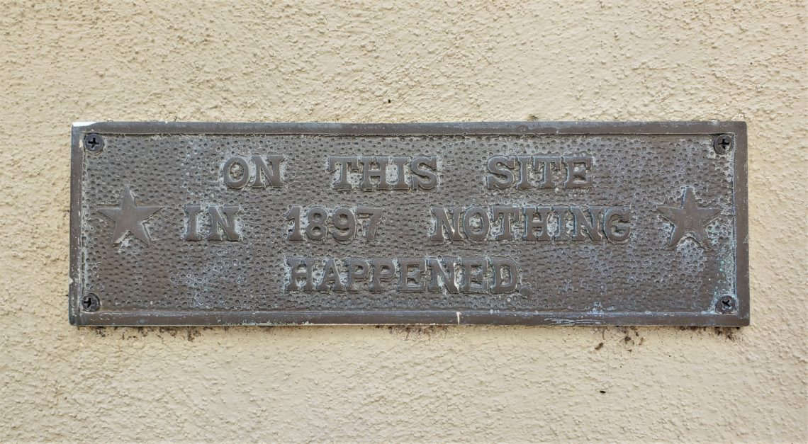 When living in the number one travel destination in the known universe, some residents of Charleston do have a sense of humor about it. You can find this historic marker on West Street.