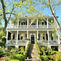 This simple Federal style house was built around 1809 on Chapel Street. Just another Charleston house.