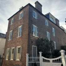 The Young-Johnson House on Church Street was built around 1770 and is an imposing presence. Home to Joseph Johnson in the 19th century. Johnson (among other things) led the SC Unionist Party during the Nullification Crisis in 1832-33.