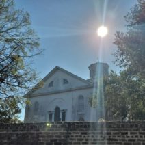"""The Second Presbyterian Church building (c. 1811), as seen from Elizabeth Street. The fourth oldest congregation in Charleston, the full name of the church is """"the Second Presbyterian Church of Charleston and Its Suburbs."""" Instead of that mouthful, it is commonly referred to as """"Second Pres."""""""