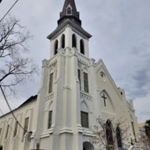 The Emanuel African Methodist Episcopal Church on Calhoun Street, more familiarly called Mother Emanuel. Founded in 1816, it is the oldest African Methodist Episcopal church in the Southern US.