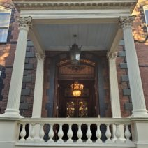 """This is the entryway to the Calhoun Mansion on Meeting Street, which was once declared to be """"the handsomest and most complete private residence in the South."""" It is still the largest single family home in Charleston."""