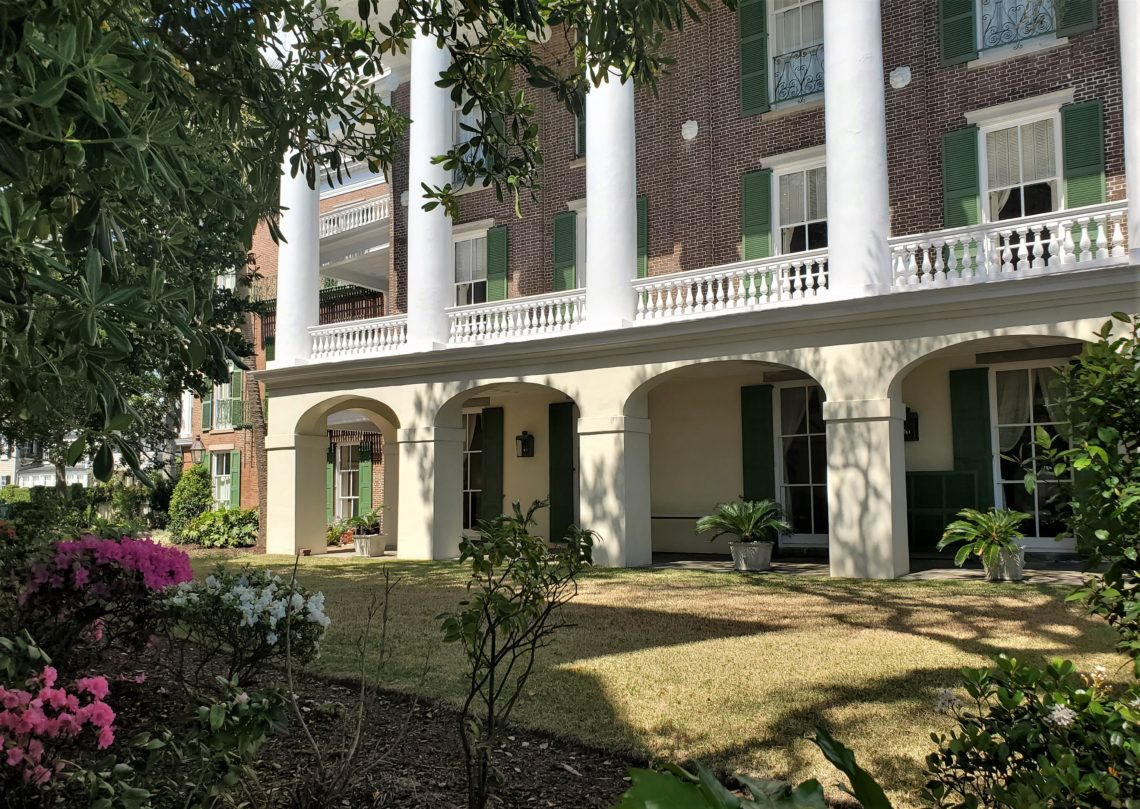Built in 1838-39, the Robert William Roper House is one of the most monumental Greek Revival houses in Charleston. With a prominent location on East Battery, it actually wasn't ever supposed to be there, as that land was originally intended to be part of White Point Garden.