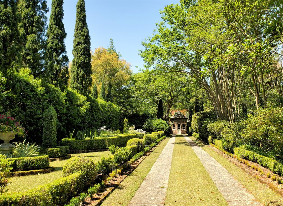 This driveway and garden can be found on Montagu Street in the Harleston Village neighborhood of Charleston. Beautiful.