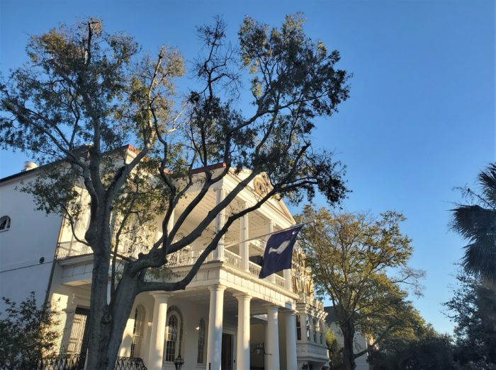 "The South Carolina Society Hall on Meeting Street was built in 1804 as the home for a club that was founded in 1737 as ""The Two Bit Club."" It later became the ""South Carolina Society,"" and its home was so aptly named."
