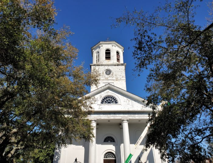 Undergoing some renovations, the Second Presbyterian Church -- the 4th oldest church in Charleston -- was recently struck by lightning.