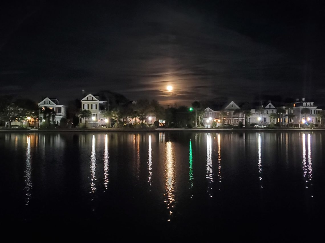 Some wonderful reflections on Colonial Lake.