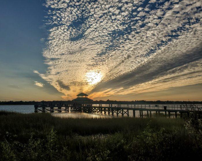 An incredible sky, as seen from Brittlebank Par.